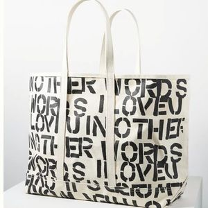 Anthropologie Fly Me To The Moon Canvas Tote Bag